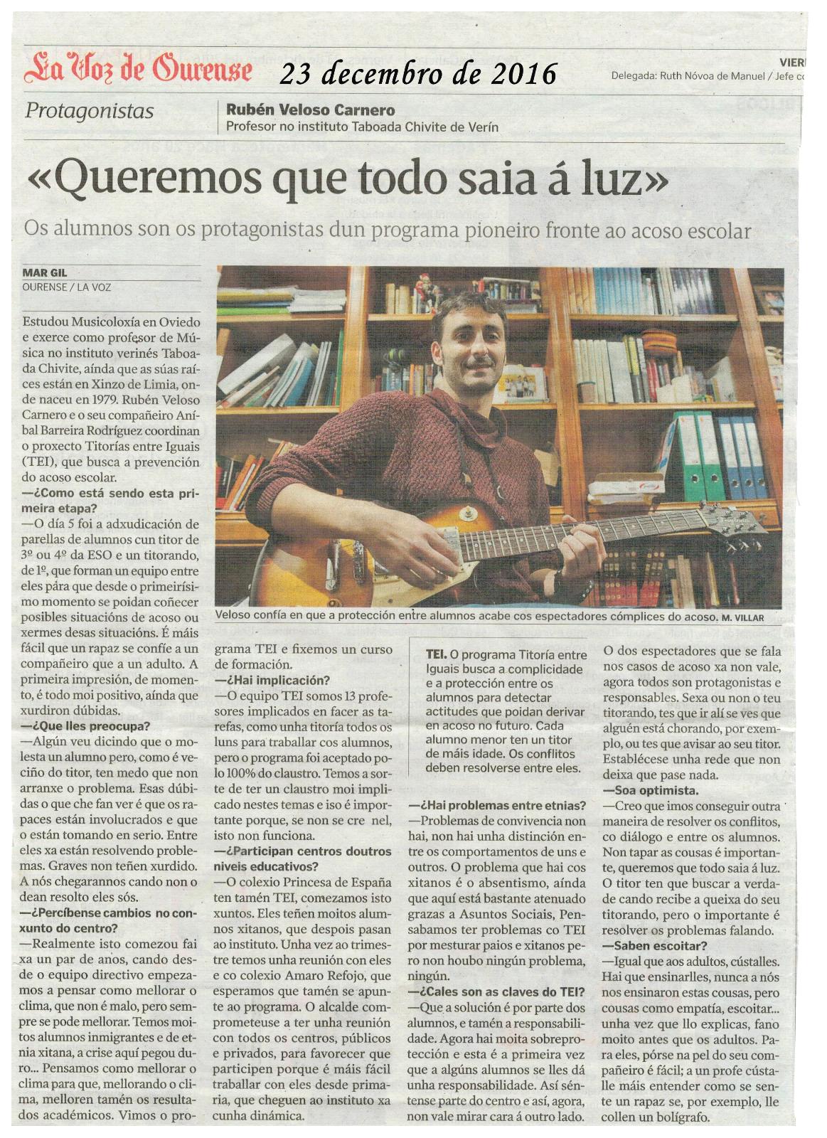 La Voz de Galicia 23-12-16