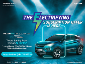 Limited-period subscription offer on Nexon EV
