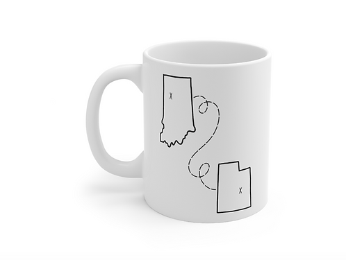 State to State | Home Sweet Home | Long Distance Mug | Best Friends | Military
