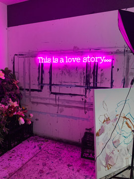 THIS IS A LOVE STORY... | Neon Sign | 18 x 154cm