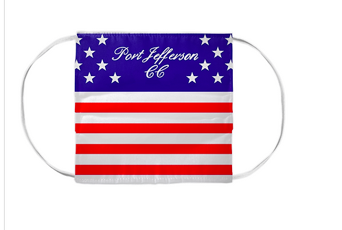 Set of 10 - Personalized Logo American Flag Washable and Reusable Face Mask
