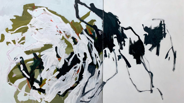 DEAR JOSÉPHINE | 122 x 213cm | Diptych | Acrylic/Oil on Canvas