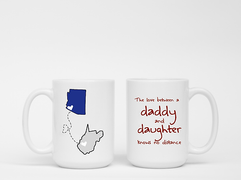 The Love Between A Daddy A Daughter Knows No Distance Mug - Father's Day Gift