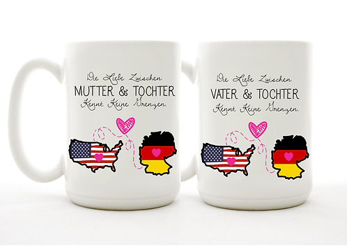 Set of 2 - German Long Distance Parents Mugs