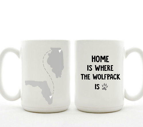 Home Is Where The Wolfpack Is Mug
