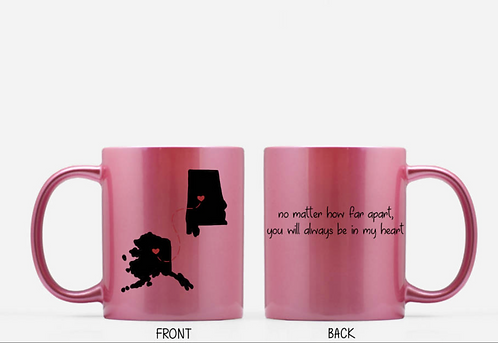 No Matter How Far Apart - Send Her A Personalized Two States