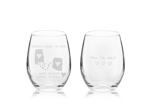 Distance Means So Little Stemless Wine Glass