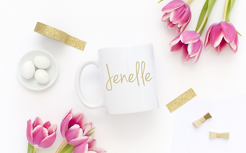 Custom GOLD FOILED Name - Mother's Day Gift - Bridesmaid Gift