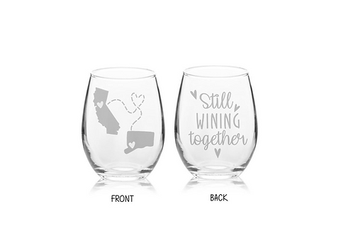 ENGRAVED ONE Best Selling Etched Still Wining Together | Long Distance