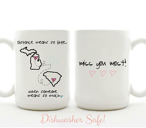 Distance Means So Little When Someone Means So Much Mug - Friends