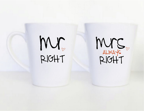 Mr. & Mrs. Always Right Mugs
