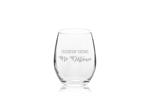 Long Distance Wine Glass | Goodbye Gift | Best Friends Forever Never Apart