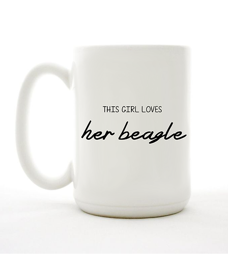 This Girl Loves Her Beagle Mug