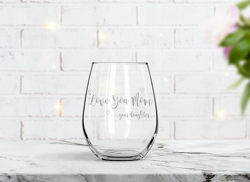Mother's Day Gift | Personalized Wine Glass | Custom Engraved | Free Shipping