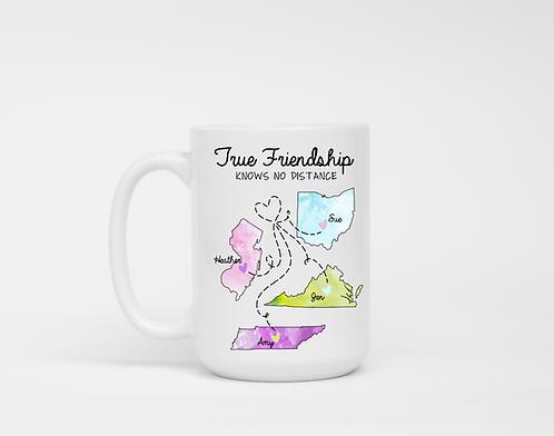 Best Friend Gift | Long Distance Gift For Friend | True Friendship Knows No Dist