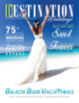 Beach Bum Vacations Wedding Advertisment
