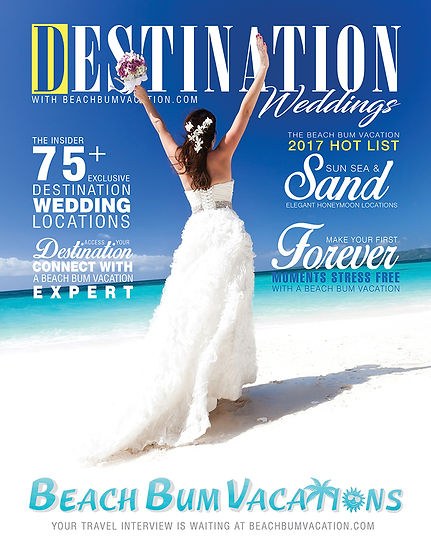 Beach Bum Vacations Wedding Advertisment