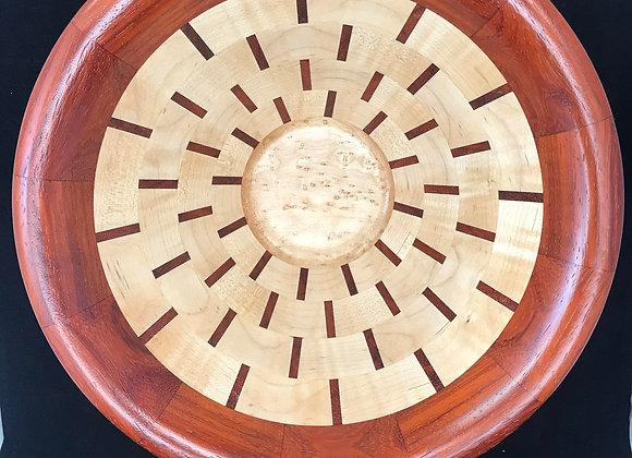 Paduk, curly , Birdseye Segmented Bowl