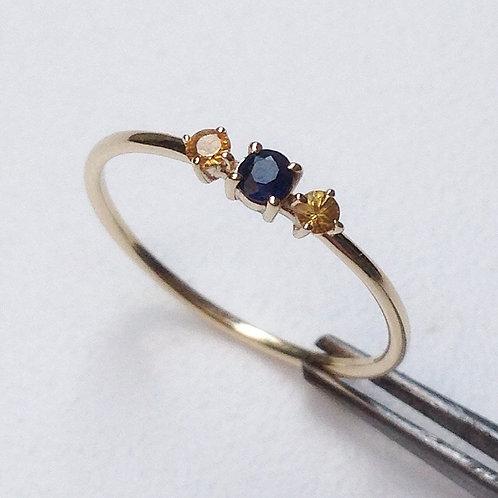 Triple Sapphire Ring