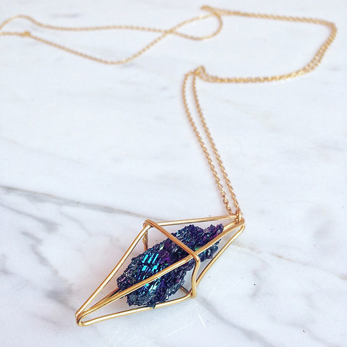 Bornite Crystal Necklace
