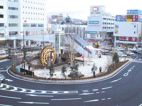 上田駅前 ロータリー舗装