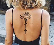 mainline back tattoo