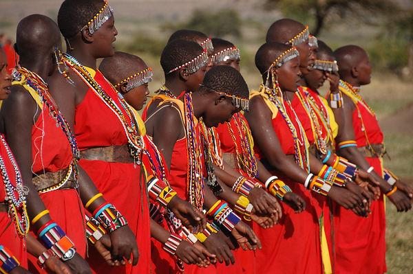 Maasai Mara Women in Kenya Dance