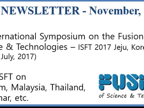 ISFT Newsletter - November, 2016