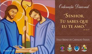 Seminarista Ítalo Breno será ordenado diácono