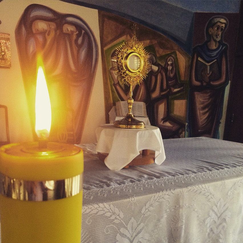 Momento de oração em Matrinchã