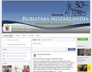 Entra no ar a página da Diocese no Facebook