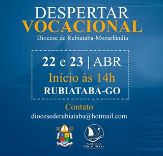 Despertar Vocacional: encontro será realizado em Rubiataba