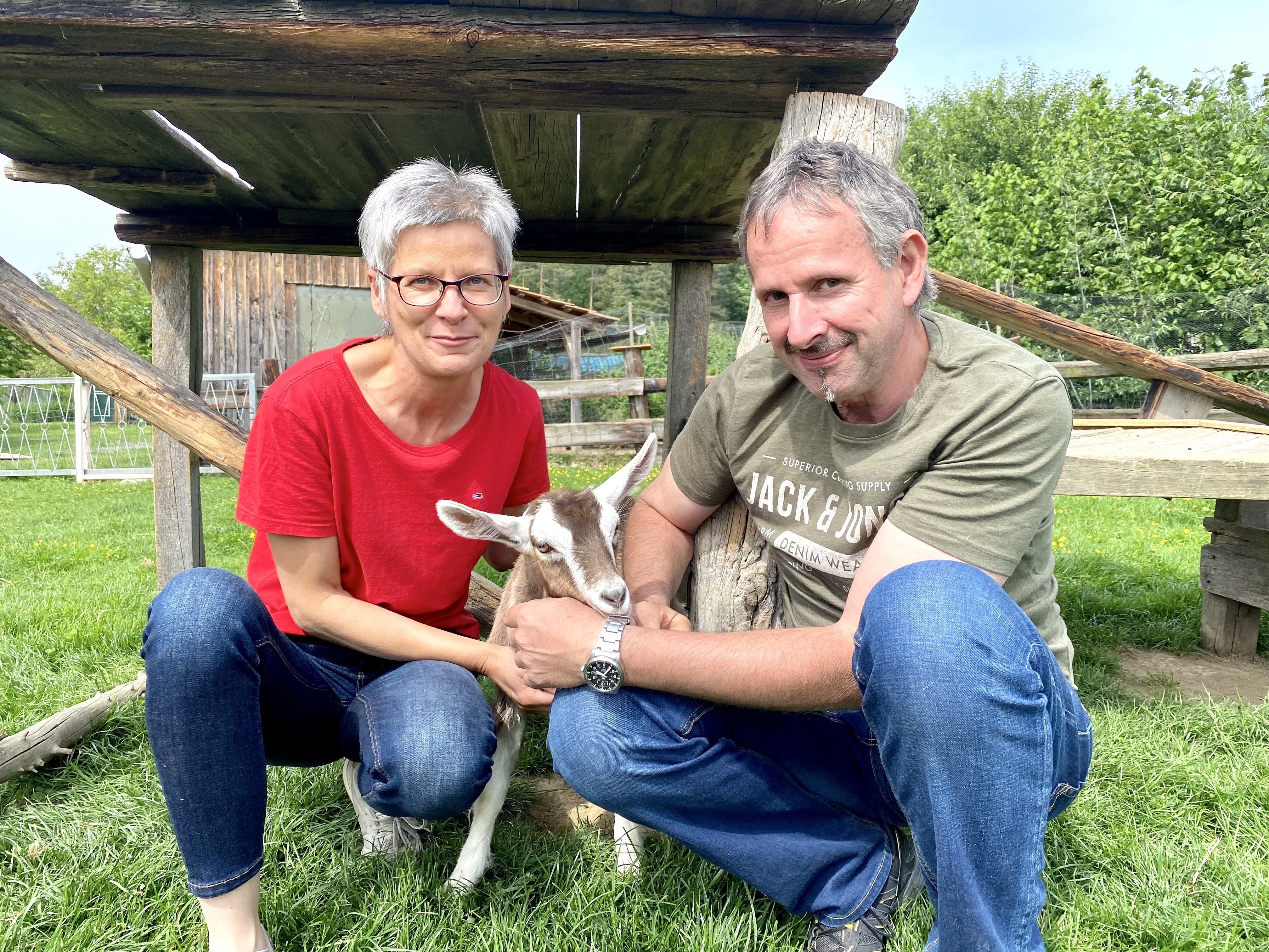 Silvia u Alexander mit Frieda
