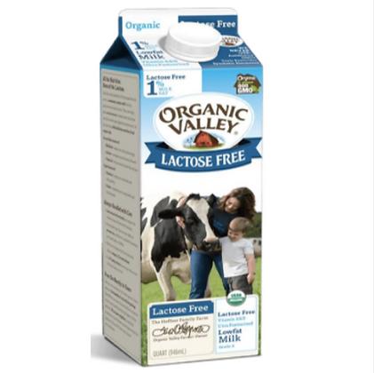 Organic Valley leche entera 64oz libre de lactosa