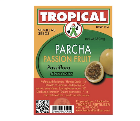 Semilla Parcha 2g / Seeds Passion Fruit 2g