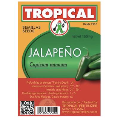 Semilla Jalapeño 2g / Seeds Jalapeño 2g