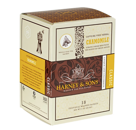 HARNEY AND SONS CHAMOMILE CAFFEINE FREE SACHET 18 Sobres