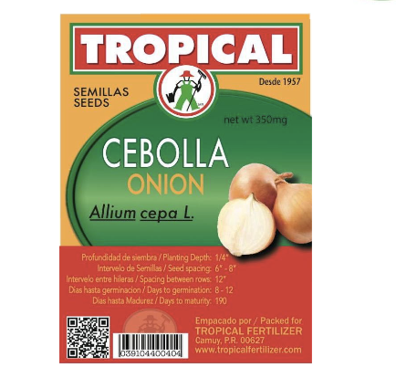 Semilla Cebolla 2g / Seeds Onion 2g