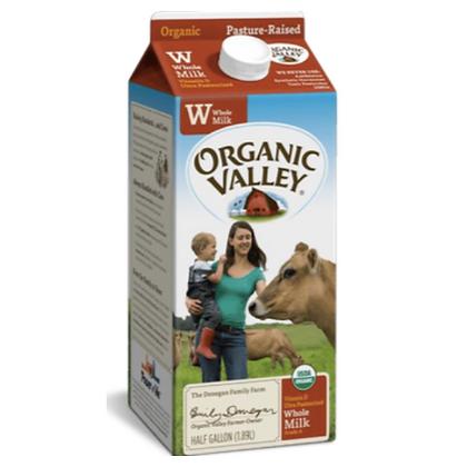 Organic Valley leche entera 64oz