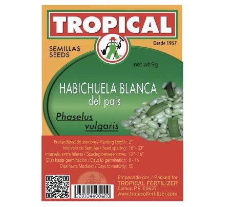 Semilla Habichuela Blanca del Pais 2g / Seeds White Bean2g