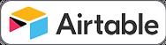 Airtable logo in white rounded corner bo
