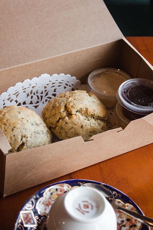 GF Cream Tea Box: Scones & Tea
