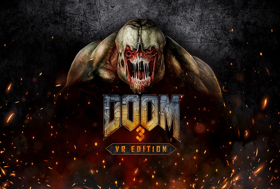 DOOM 3 VR Edition Key Art with Hell Knight