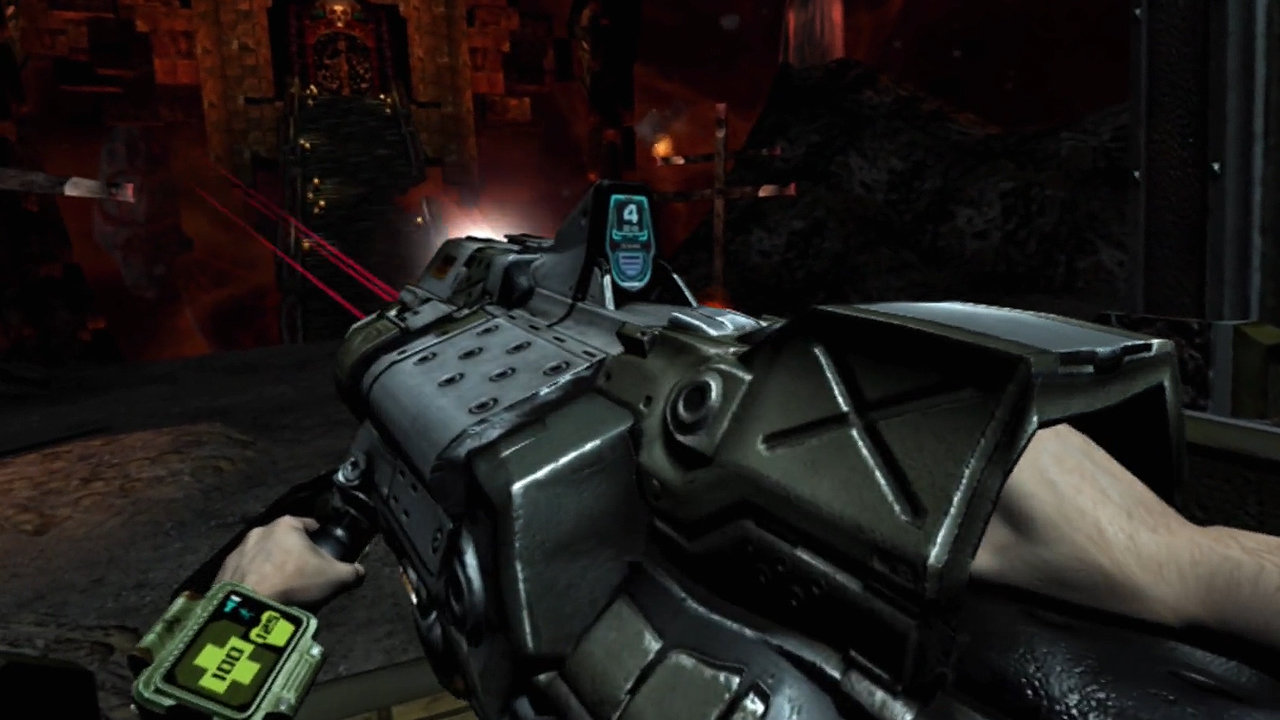 DOOM 3: VR Edition screenshot, with BGF 9000