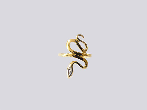 Anel Cobra folheado a ouro 1
