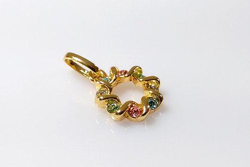 Pingente Color Mandala Folheado a ouro 1