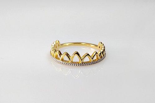 Anel Coroa folheado a ouro 1