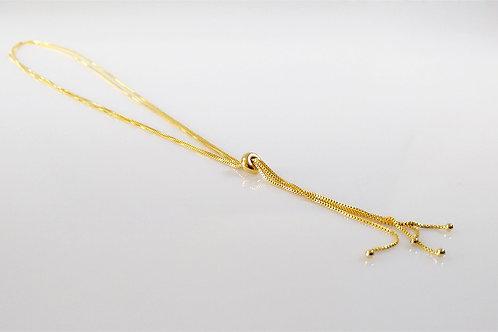 Corrente Gravata Dupla Veneziana Dourada 1
