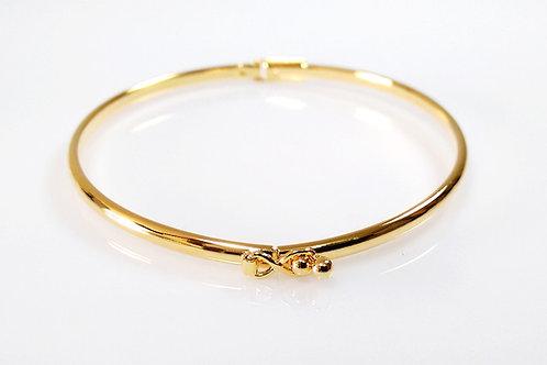 Bracelete Algema Liso Folheado a Ouro 1