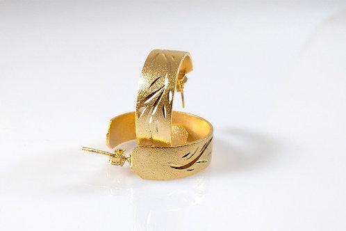 Argola Fosca Diamantada Folheado a ouro 1